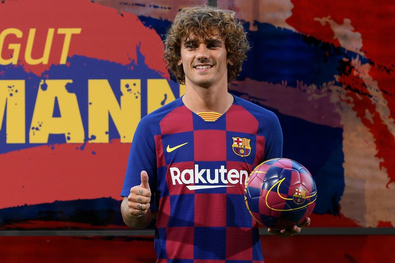 Antoine'o Griezmanno persikėlimas į katalonų klubą sukėlė aistras.<br>AFP/Scanpix nuotr.
