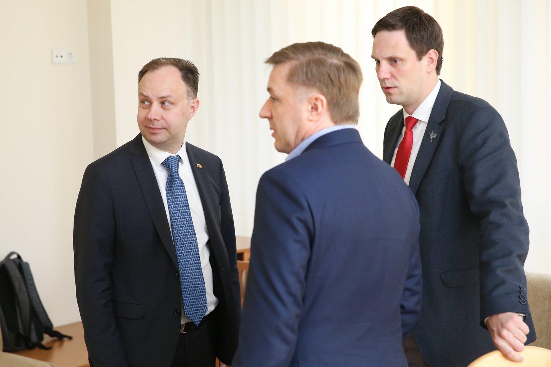 Ramūnas Karbauskis, Aurelijus Veryga, Tomas Tomilinas.<br>R.Danisevičiaus nuotr.