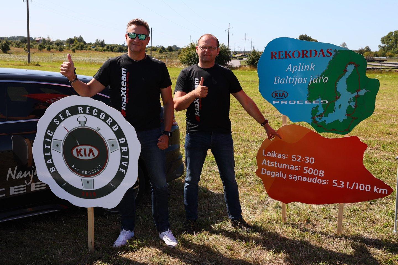 Daugiau nei dvi paras Vitoldas Milius ir Aidas Bubinas važiavo pro Latviją, Estiją, Suomiją, Švediją, Daniją, Vokietiją, Lenkiją.<br>Organizatorių nuotr.