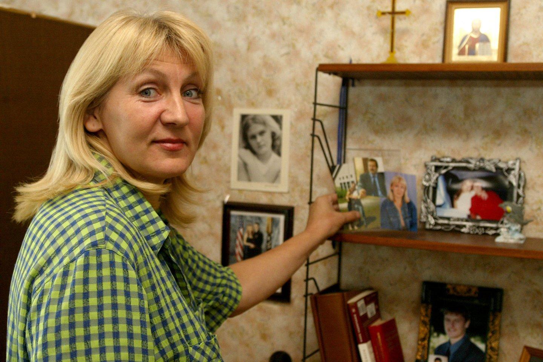Viktoro Uspaskicho pirmoji žmona Svetlana 2004-aisiais.<br>R.Jurgaičio nuotr.