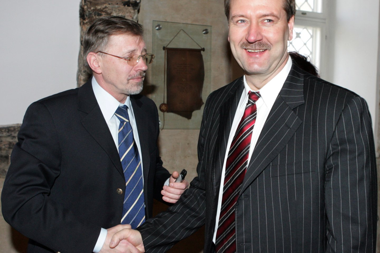 Gediminas Kirkilas ir Viktoras Uspaskichas 2006-aisiais.<br>T.Bauro nuotr.