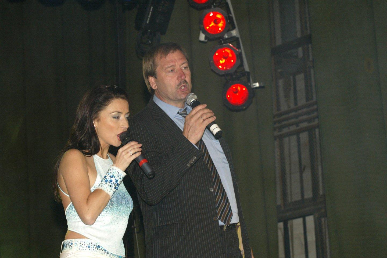 Irma Jurgelevičiūtė ir Viktoras Uspaskichas 2008-aisiais Kupiškyje.<br>S.Bagdonavičiaus nuotr.