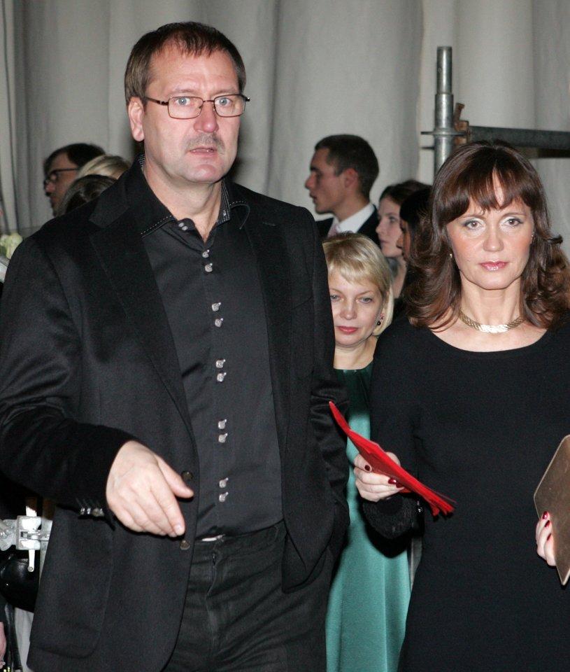 Viktoras Uspaskichas su buvusia žmona Jolanta Blažyte 2009-aisiais.<br>V.Balkūno nuotr.