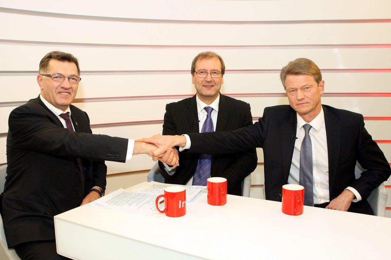 Algirdas Butkevičius, Viktoras Uspaskichas ir Rolandas Paksas 2012-aisiais.<br>R.Danisevičiaus nuotr.