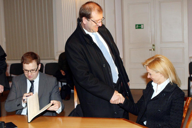 Viktoras Uspaskichas ir Vitalija Vonžutaitė 2013-aisiais.<br>R.Danisevičiaus nuotr.