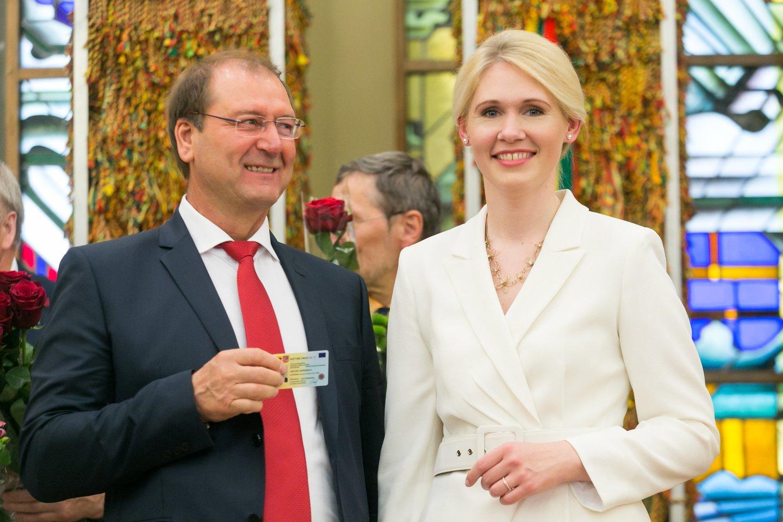 Viktoras Uspaskichas ir Laura Matjošaitytė 2019-aisiais.<br>T.Bauro nuotr.