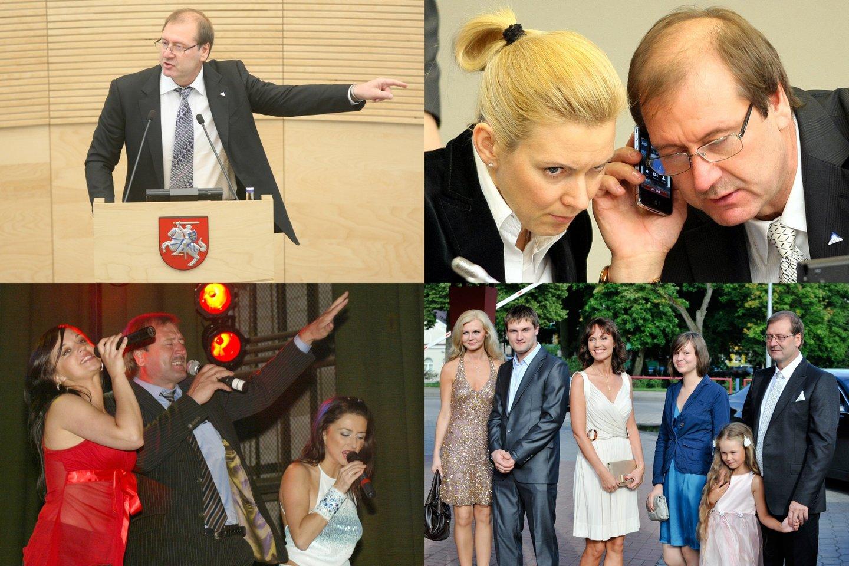 Viktoras Uspaskichas liepos 24-ąją švenčia 60-ąjį gimtadienį.<br>lrytas.lt montažas.