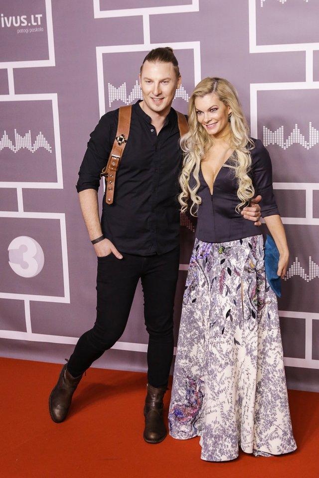 Justinas Lapatinskas su žmona Migle.<br>LR archyvo nuotr.