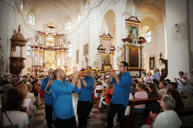 KoncertoTrakų Švč. Mergelės Marijos Apsilankymo bazilikoje akimirkos.<br>Organizatorių nuotr.