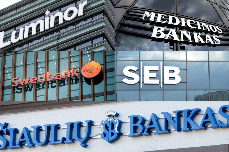 Bankų pelnai Lietuvoje yra vieni didžiausių Europos Sąjungoje (ES).<br>Lrytas.lt nuotr.