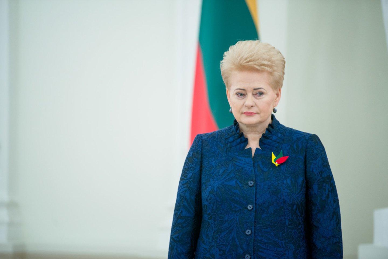 Buvusi Lietuvos prezidentė Dalia Grybauskaitė.<br>J.Stacevičiaus nuotr.