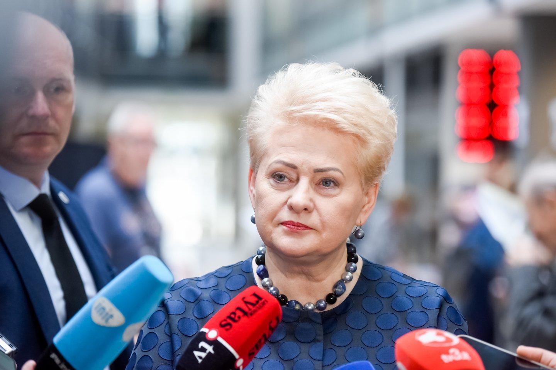 Buvusi Lietuvos prezidentė Dalia Grybauskaitė.<br>D.Umbraso nuotr.