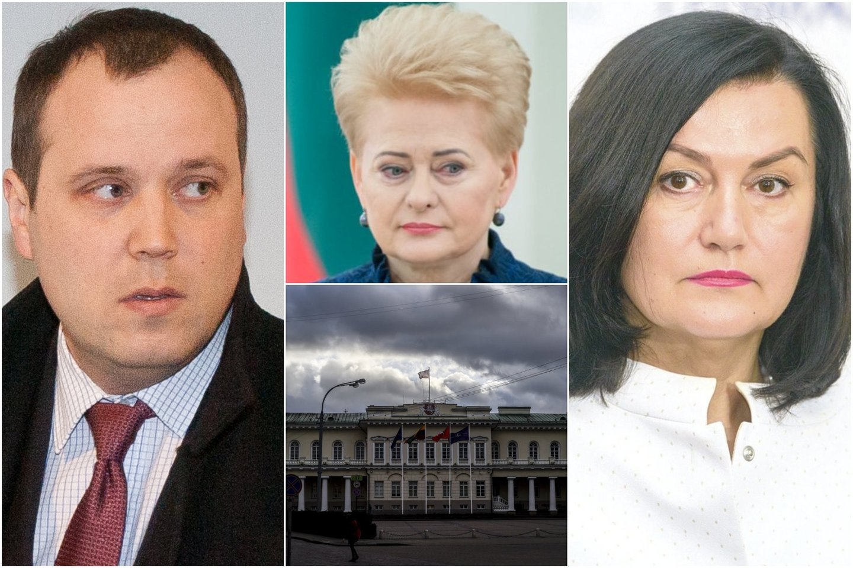 Advokatą J.Elzbergą (kairėje) šiurpina telefoninės teisės šmėkla: skamba ir D.Grybauskaitės pavardė. Dešinėje - teisėja L.Braždienė.<br>lrytas.lt koliažas
