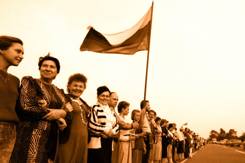 Baltijos kelias yra Estijos, Latvijos ir Lietuvos bendros kovos už laisvę produktas.<br>M.Vizbelio nuotr.