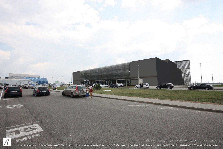 Siekiama, kad sparčiai besiplečiančiame Kauno oro uoste būtų galima aptarnauti apie 2 mln. keleivių per metus.<br>vizualizacija