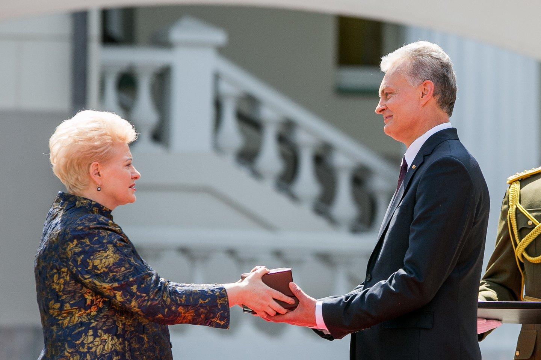 Dalia Grybauskaitė ir Gitanas Nausėda.<br>T.Bauro nuotr.