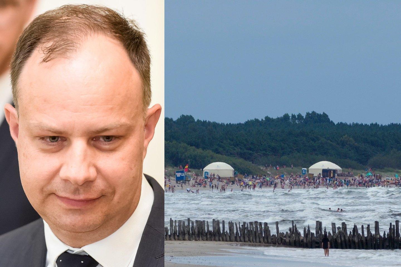 A. Veryga stojo už draudimą pardavinėti alkoholį paplūdimiuose – ištraukė skenduolių statistiką.<br>lrytas.lt koliažas