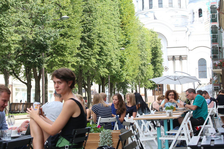 """""""Gražiausiose vietose bus išnaikintos lauko kavinės"""", – Seimo Ekonomikos komitete trečiadienį sakė Evalda Šiškauskienė. <br>M.Patašiaus nuotr."""