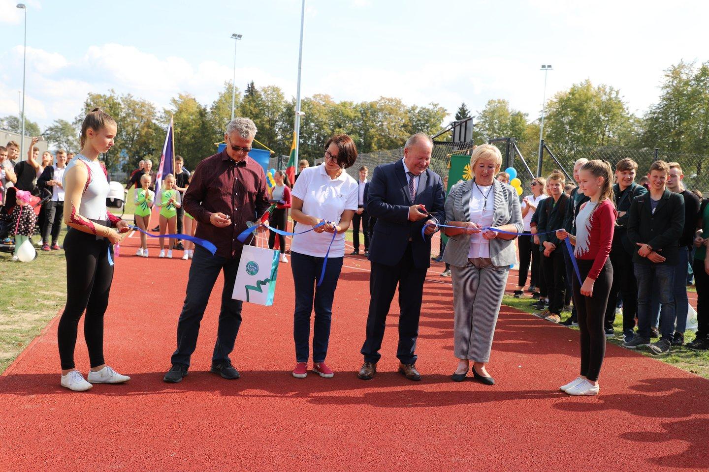 Kauno rajone, Jonučiuose, atnaujintas stadionas.<br>Kauno rajono savivaldybės nuotr.