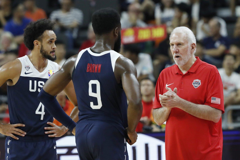 JAV rinktinė pasaulio čempionate patyrė dar vieną pralaimėjimą ir nusileido Serbijai.<br>Reuters/Scanpix nuotr.