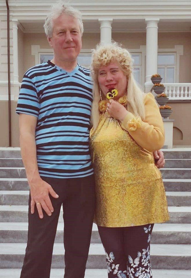 Lina su vyru Druskininkuose.