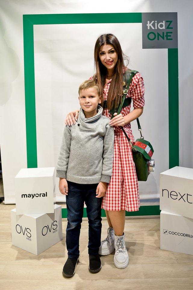 Elvyra Monginienė su sūnumi.<br>Tomas Petro nuotr.