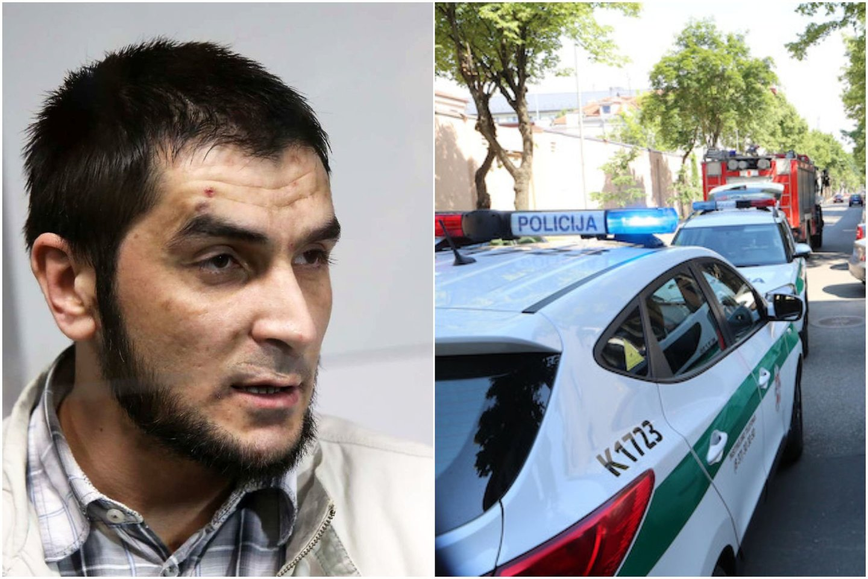 Policija ir Pravieniškių pataisos namų pareigūnai tęsia už brutalų išpuolį nuteisto kauniečio A.Kalasiūno paiešką.<br>Lrytas.lt koliažas