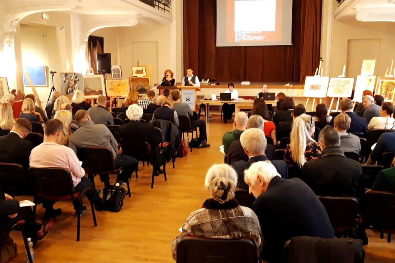 LIX Vilniaus aukciono akimirka.<br>Nuotr. iš aukciono rengėjų archyvo