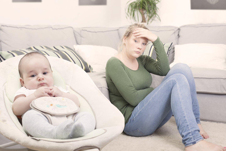 Depresija suserga apie 10–15 proc. visų pagimdžiusiųjų, o dar apie 20–30 proc. moterų nesikreipia pagalbos, nors nuolat jaučiasi blogai ir gyvena kančioje.<br>123rf nuotr.