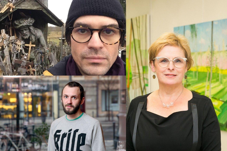 R.Vanagaitė, A.Kahnas ir A.Jevsejevas (apačioje).<br>Facebook (W.Motto) ir LR archyvo nuotr.