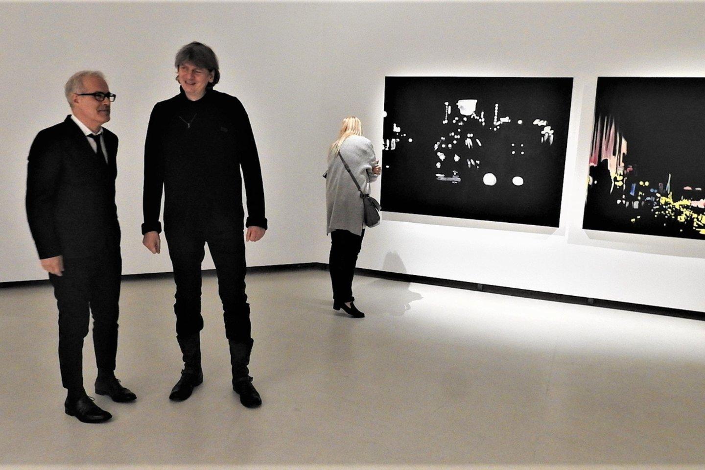 I.Kazakevičius pristatė parodos autorių P.Finellį.<br>G.Pilaičio nuotr.