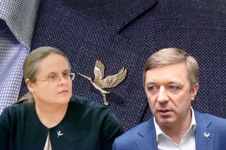 L.Ulevičiausnuomone, neigiamą įtaką valstiečių lyderiui daro Seimo Teisės ir teisėtvarkos komiteto vadovė Agnė Širinskienė.<br>Lrytas.lt fotomontažas