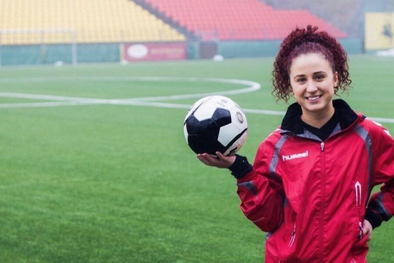 Masinio futbolo asociacijos vadybininkė Greta Guižauskaitė<br>lff.lt nuotr.