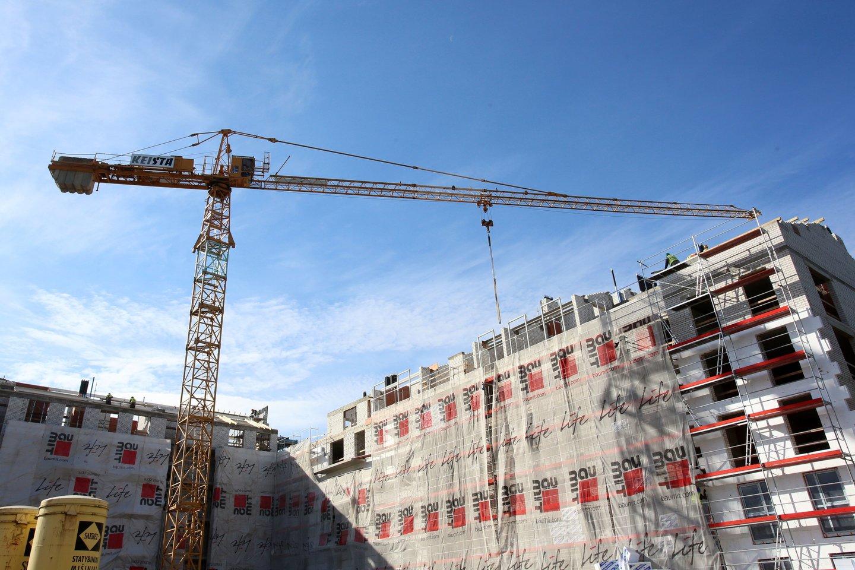 Beveik pusė (48,6 proc.) 2019 m. trečią ketvirtį baigtų statyti naujų gyvenamųjų būstų buvo Vilniaus apskrityje, 23,7 proc. – Kauno, 14,1 proc. – Klaipėdos.<br>M.Patašiaus nuotr.