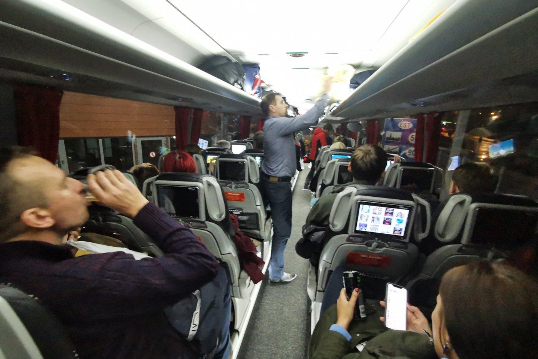Pastaruoju metu iš Baltijos valstybių autobusai į Sankt Peterburgą vyksta ir grįžta pilni.<br>R.Danisevičiaus nuotr.