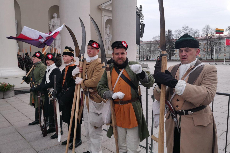 1863-1864 metų sukilimo vadų ir dalyvių valstybinių laidotuvių ceremonija.<br>R.Danisevičiaus nuotr.