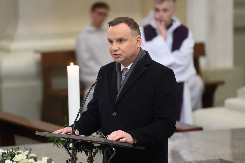 Lenkijos prezidentas Andrzejus Duda.<br>V.Skaraičio nuotr.