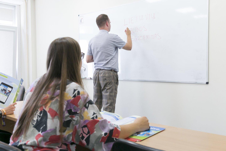 universitetas, studijos, studentai, mokykla, klasė, egzaminas, mokytojas, mokinė, pamoka<br>T.Bauro nuotr.