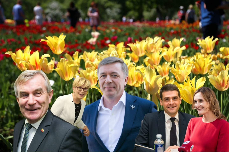 Seimo nariai negailėjo vaizdingų sveikinimų 50-metį švenčiančiam Ramūnui Karbauskiui.