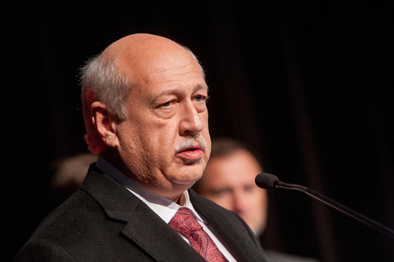2015-ieji, Kutūros mecenato apdovanojimas įteikiamas Sauliui Karosui.<br>D.Umbraso nuotr.