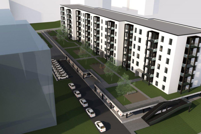 """Lietuvoje veiklą pradėjusi skandinavų nekilnojamojo turto plėtros kompanija """"Bonava"""" paskelbė savo pirmojo projekto lokaciją.<br>vizualizacija"""