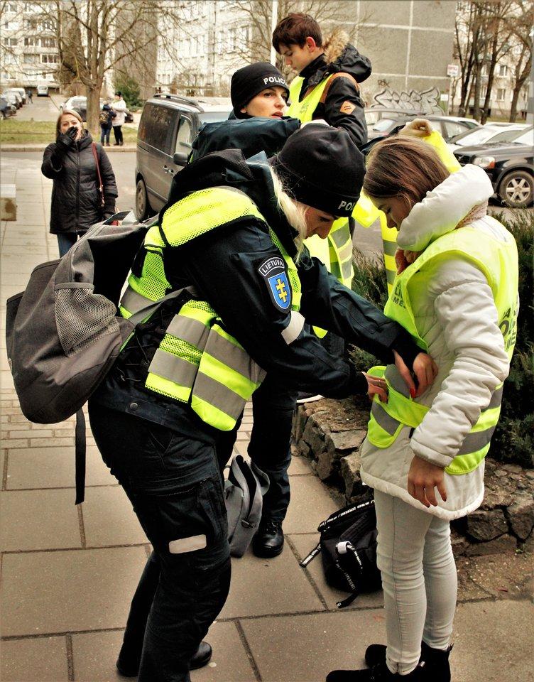 Saugaus eismo akcija<br>Organizatorių nutor.
