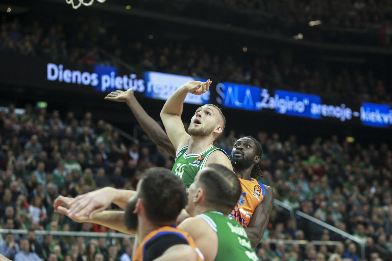 """Kauno """"Žalgiris"""" penktadienį žaidė su """"Valencia"""" ekipa<br>G.Bitvinsko nuotr."""