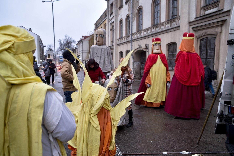 Trijų karalių eisena Vilniuje.<br>V.Ščiavinsko nuotr.
