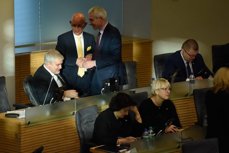 Algimantas Vinkus, Dainius Kepenis, Seimo salė, Asta Kubilienė<br>D.Umbraso nuotr.