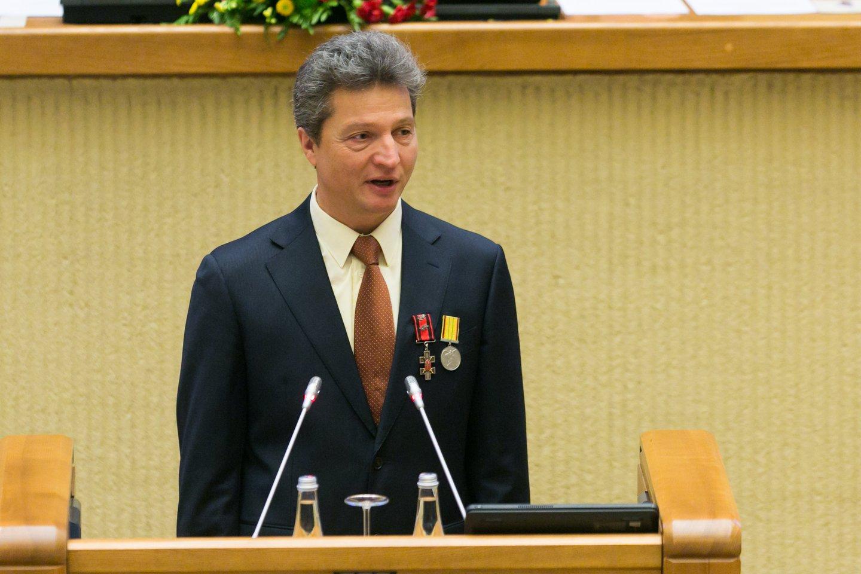 Iškilmingas Seimo posėdis Laisvės gynėjų dienai paminėti.<br>T.Bauro nuotr.