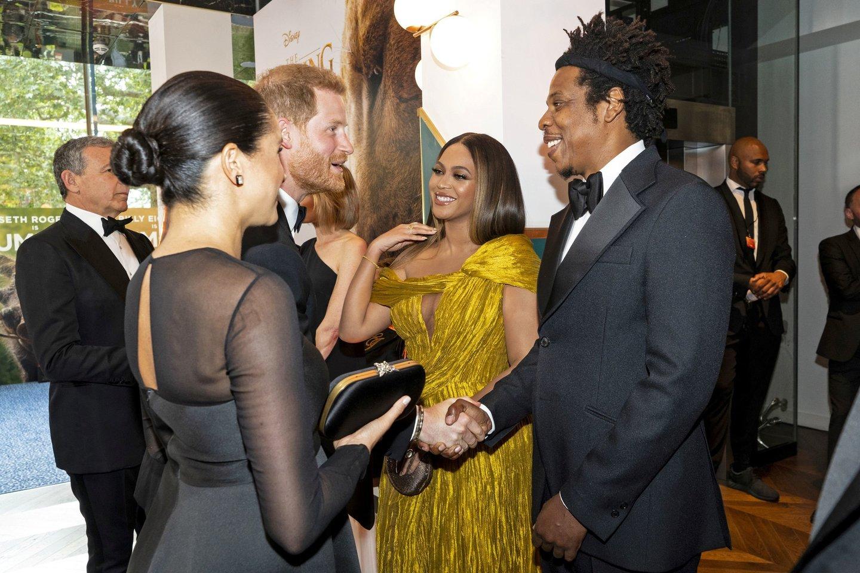 Beyonce, Jay-Z, Meghan Markle ir princas Harry.<br>Scanpix nuotr.