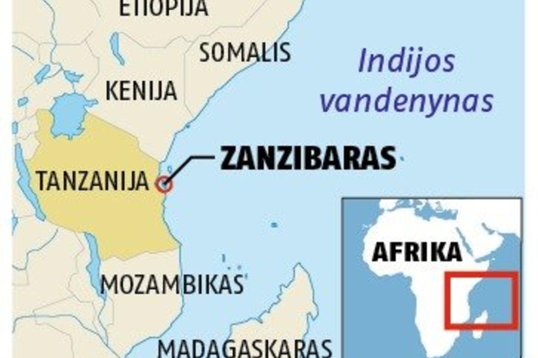 Zanzibaras žemėlapyje.