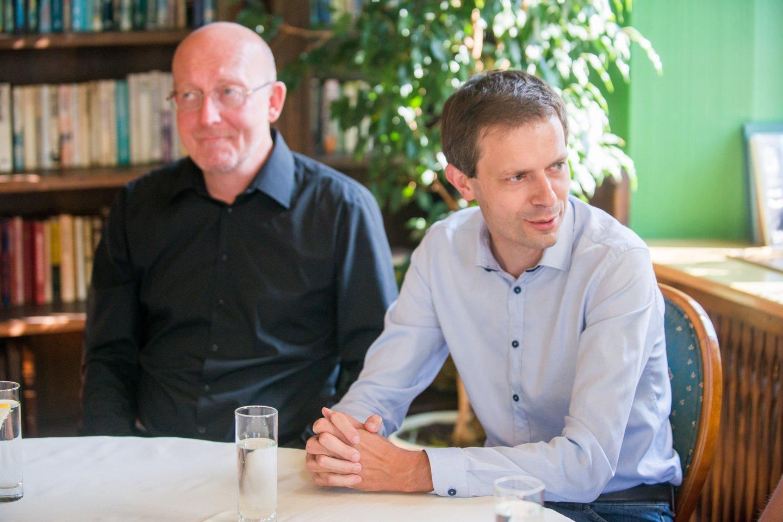 Auksinis protas, spaudos konferencija, Arūnas Valinskas, Andrius Tapinas<br>J.Stacevičiaus nuotr.