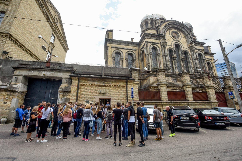 Bendruomenės kviečiamos išsakyti savo nuomonę, kokį Lukiškių kalėjimą mato ateityje.<br>D.Umbraso nuotr.